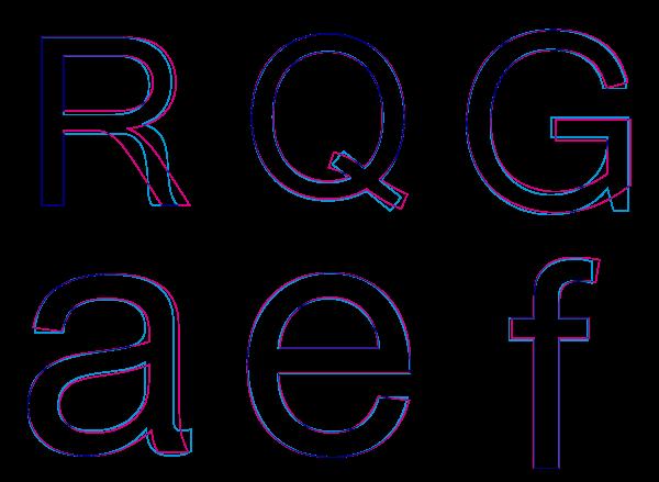 Helvetica y Arial (detalle)