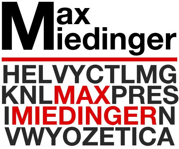 Max Miedinger Helvetica