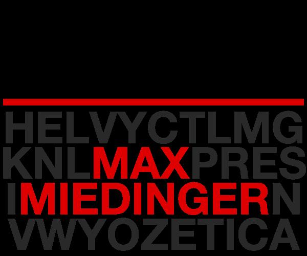 Max Miedinger Helvetica