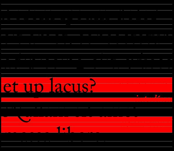 Espaciado: un interlineado correcto