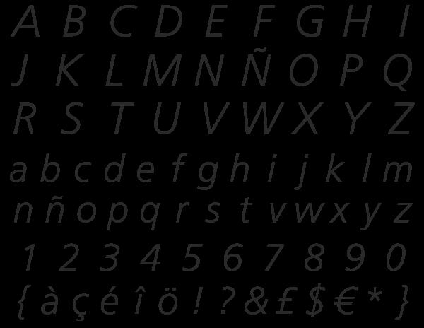 Frutiger Linotype italic